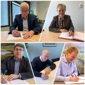 Vertegenwoordigers van raden van bestuur van de ziekenhuizen in Groningen en Drenthe ondertekenen de samenwerkingsovereenkomst