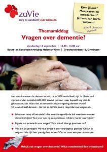 Voorkant Flyer Dementie 16 September